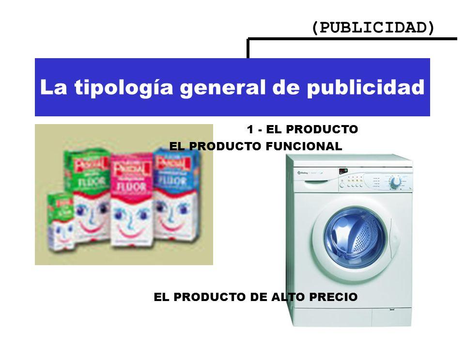 La tipología general de publicidad