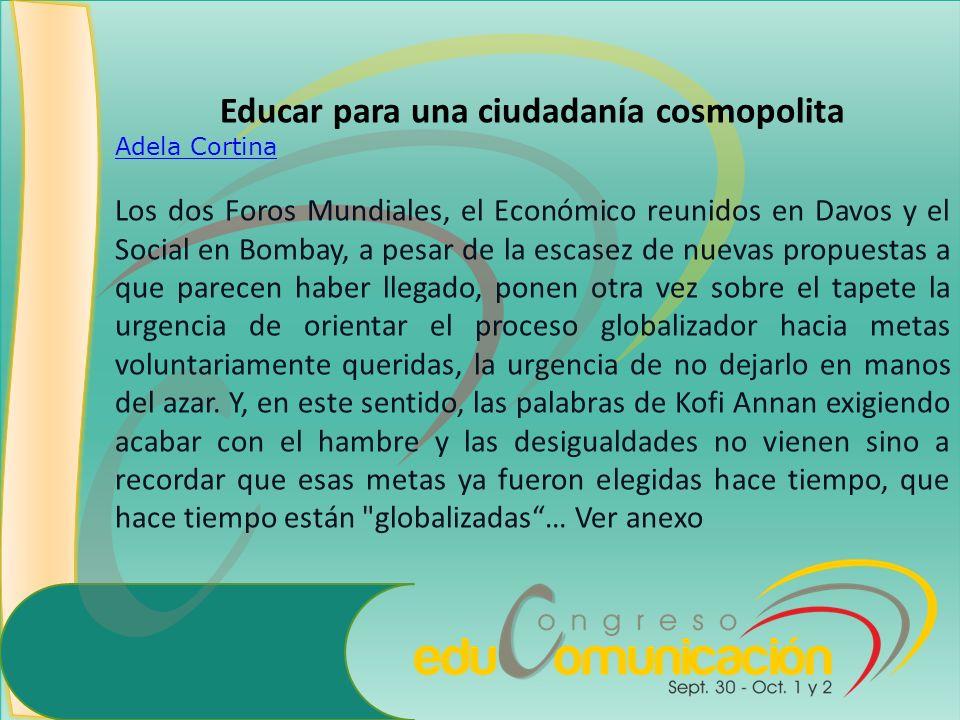 Educar para una ciudadanía cosmopolita