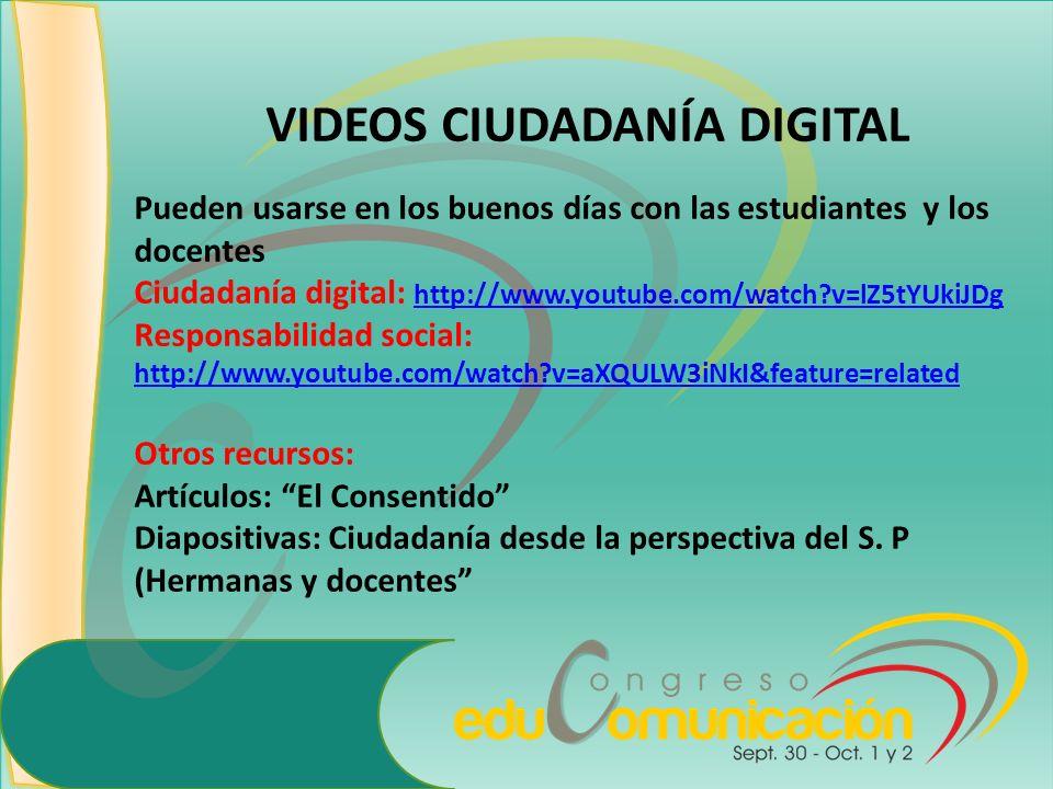 VIDEOS CIUDADANÍA DIGITAL