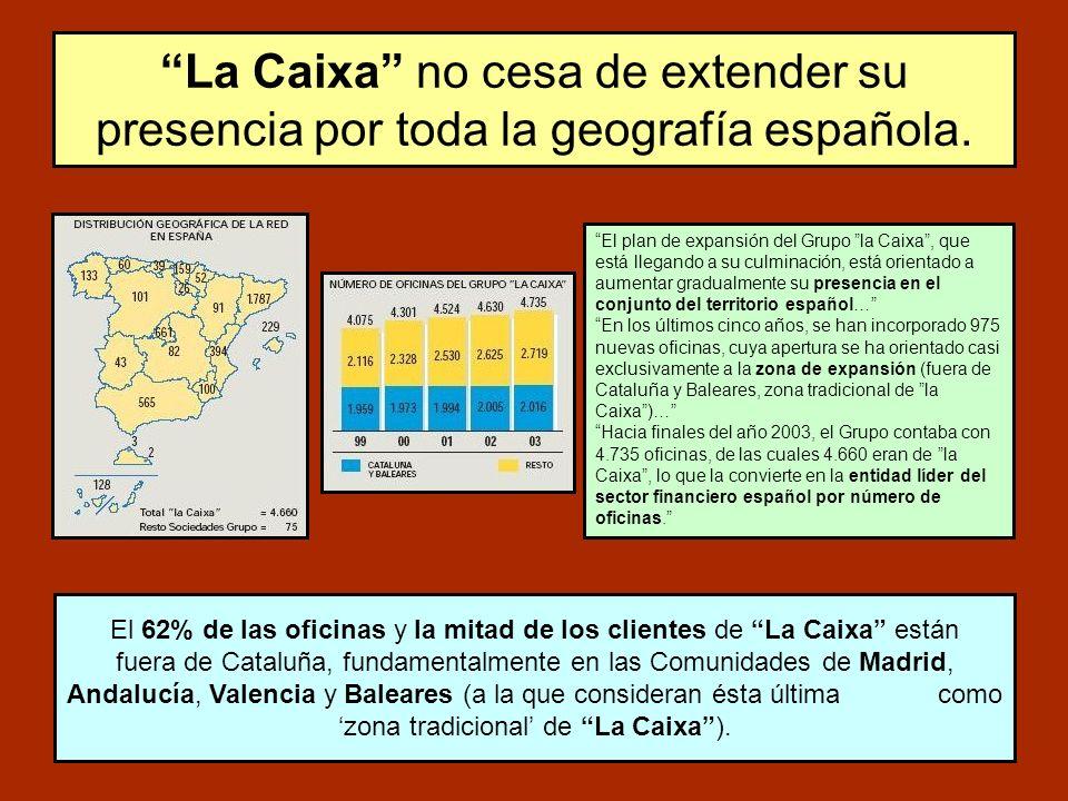 La Caixa no cesa de extender su presencia por toda la geografía española.