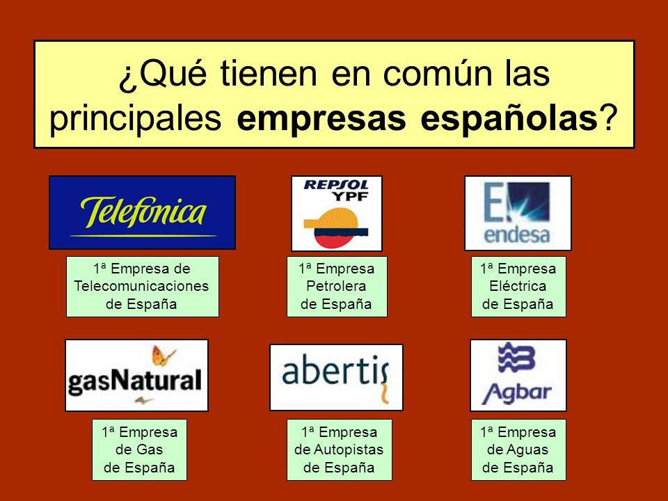 ¿Qué tienen en común las principales empresas españolas