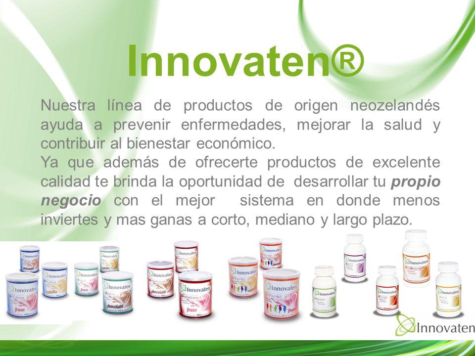 Innovaten® Nuestra línea de productos de origen neozelandés ayuda a prevenir enfermedades, mejorar la salud y contribuir al bienestar económico.