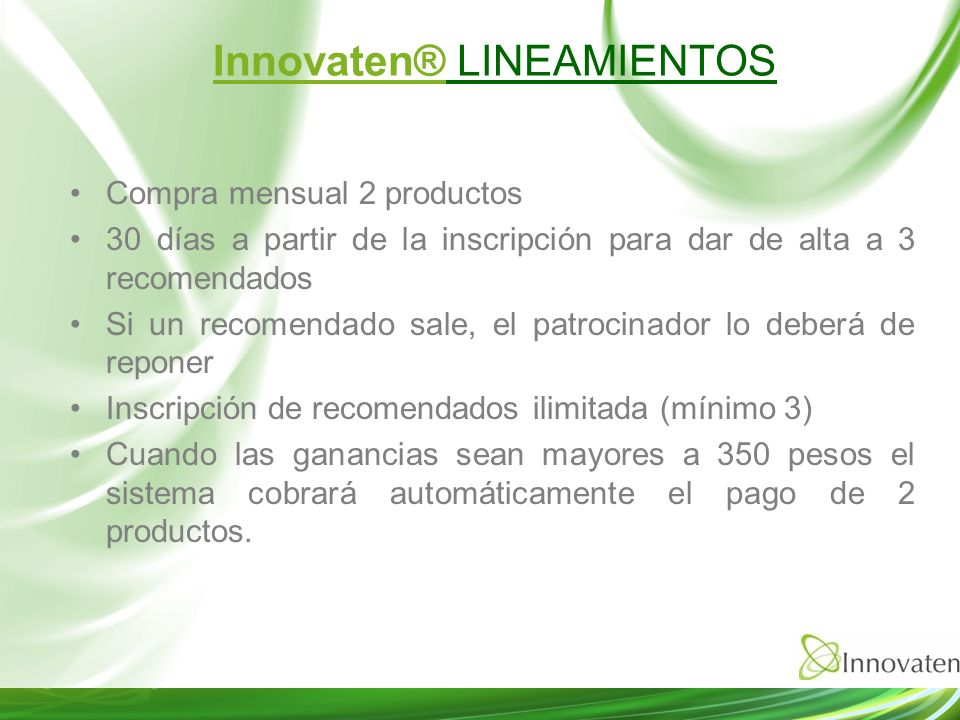 Innovaten® LINEAMIENTOS