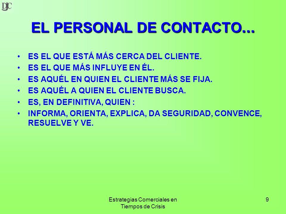 EL PERSONAL DE CONTACTO...