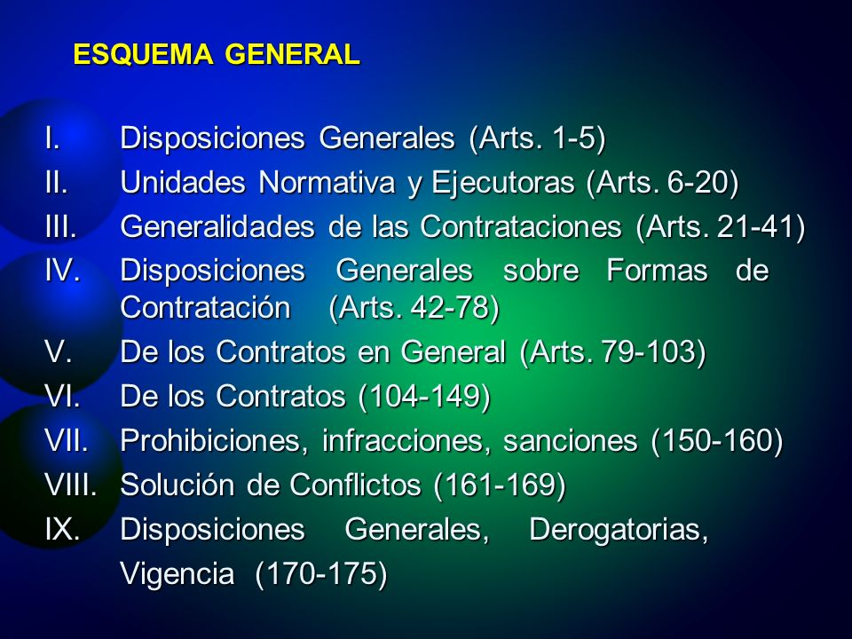 Disposiciones Generales (Arts. 1-5)
