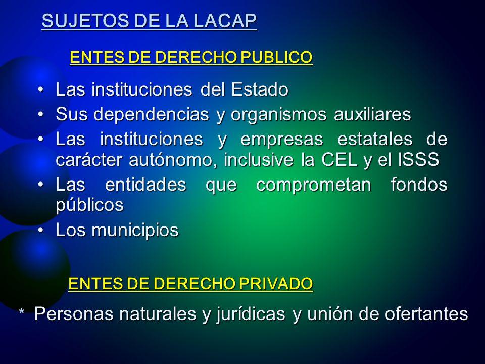 Las instituciones del Estado Sus dependencias y organismos auxiliares