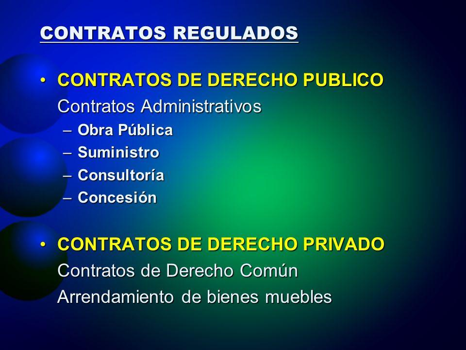 CONTRATOS DE DERECHO PUBLICO Contratos Administrativos