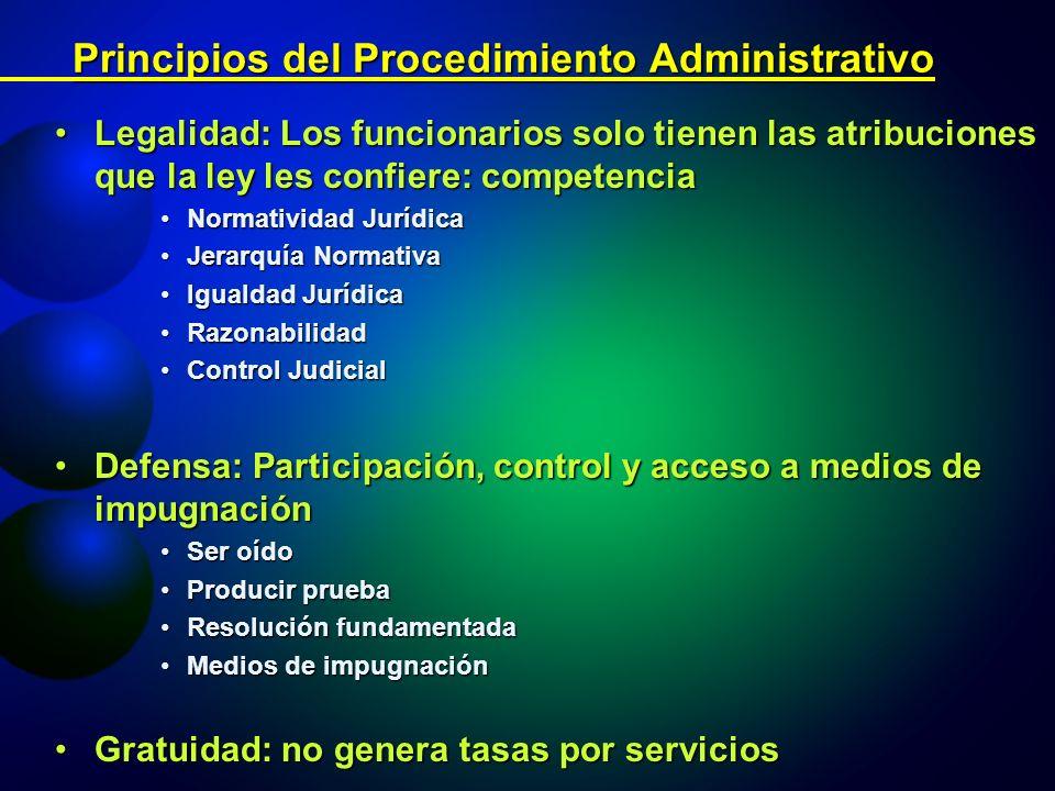 Principios del Procedimiento Administrativo