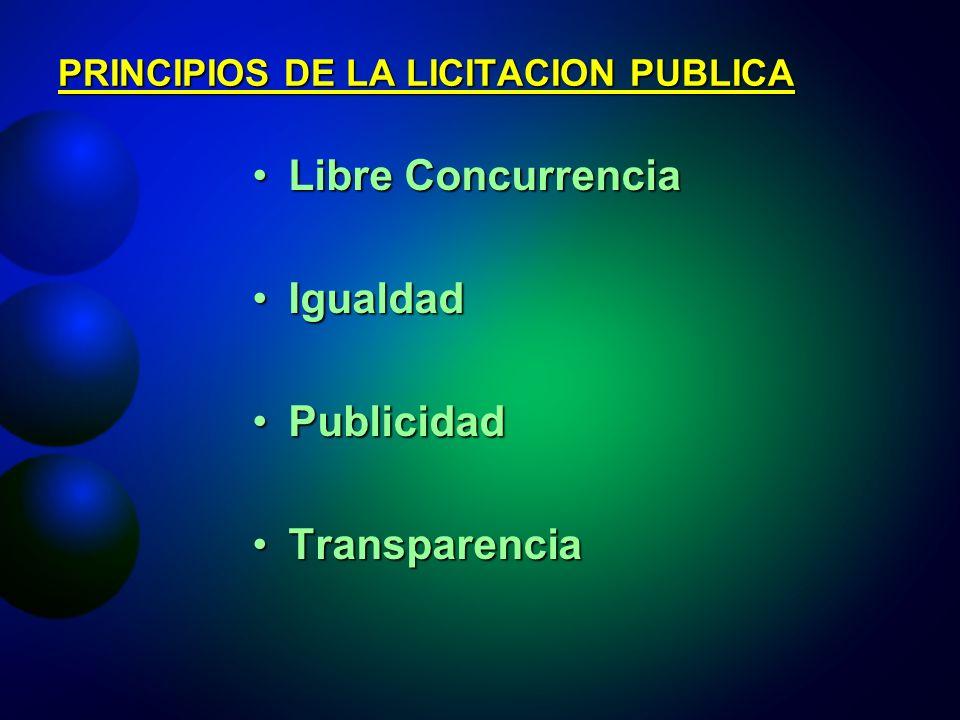 PRINCIPIOS DE LA LICITACION PUBLICA