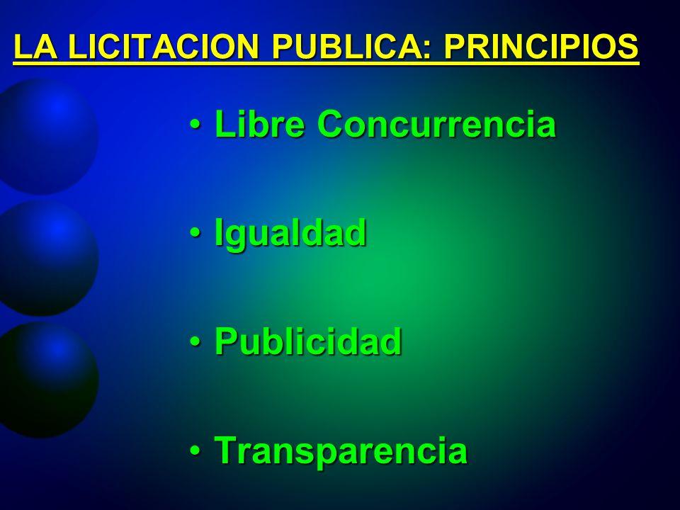 LA LICITACION PUBLICA: PRINCIPIOS