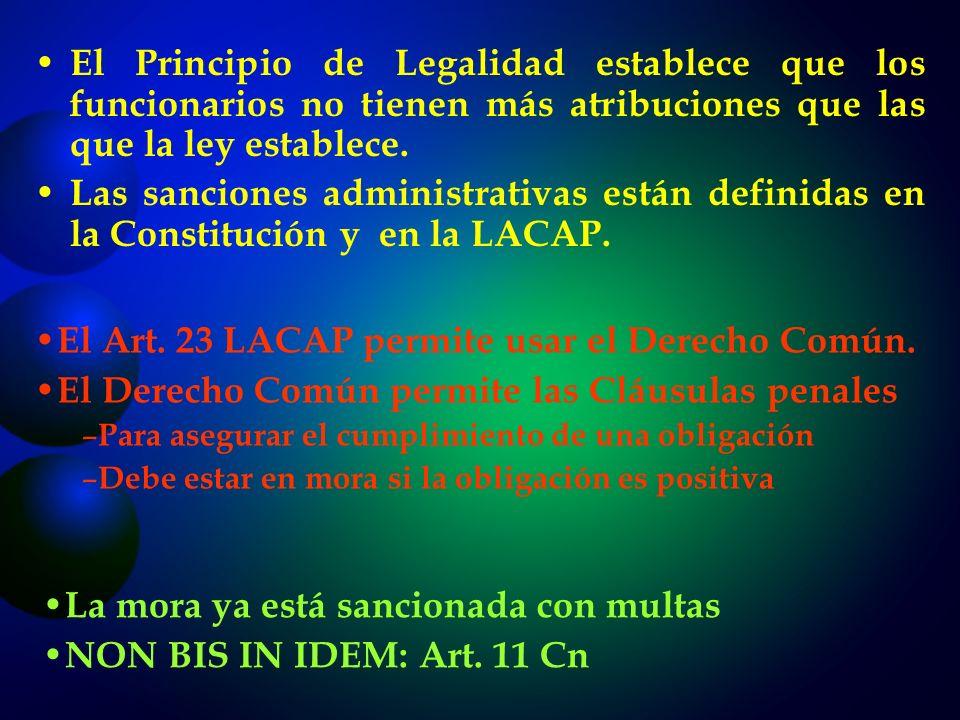 El Art. 23 LACAP permite usar el Derecho Común.