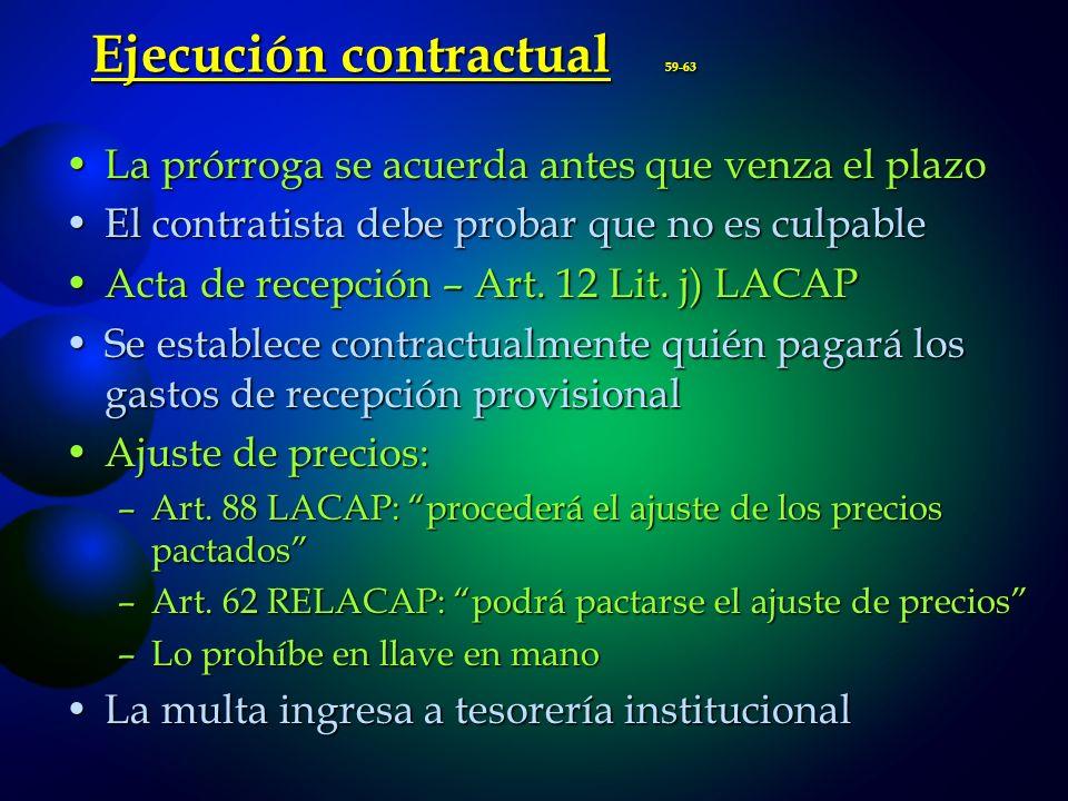 Ejecución contractual 59-63