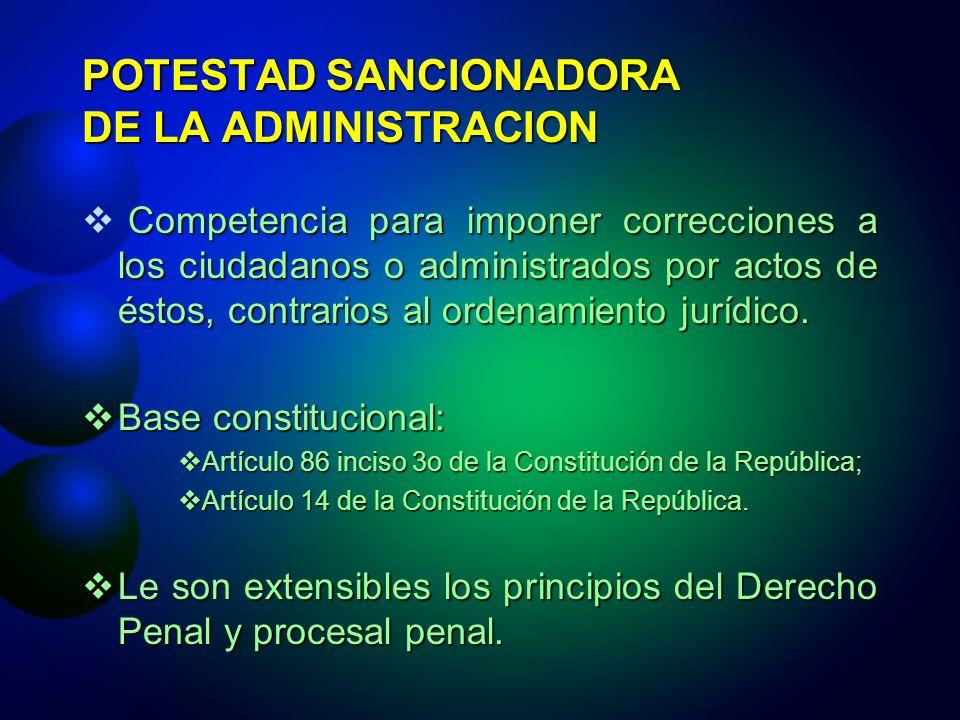 POTESTAD SANCIONADORA DE LA ADMINISTRACION