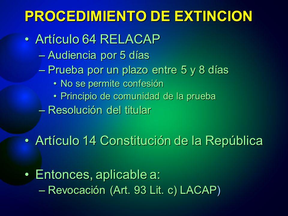 PROCEDIMIENTO DE EXTINCION