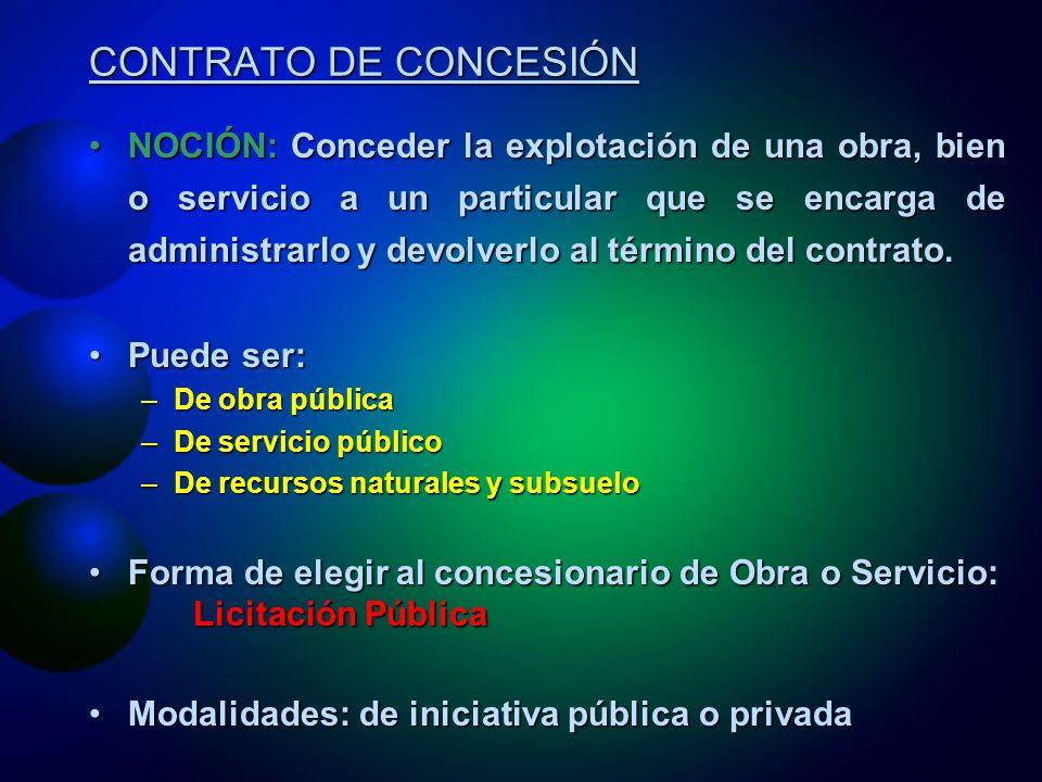 CONTRATO DE CONCESIÓN