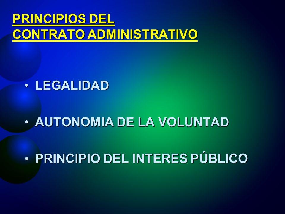 PRINCIPIOS DEL CONTRATO ADMINISTRATIVO