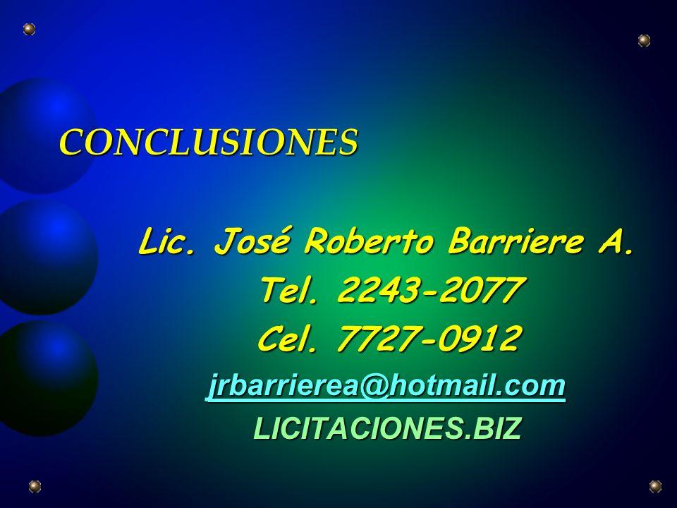 Lic. José Roberto Barriere A.