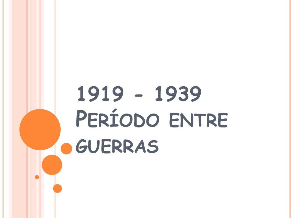 1919 - 1939 Período entre guerras