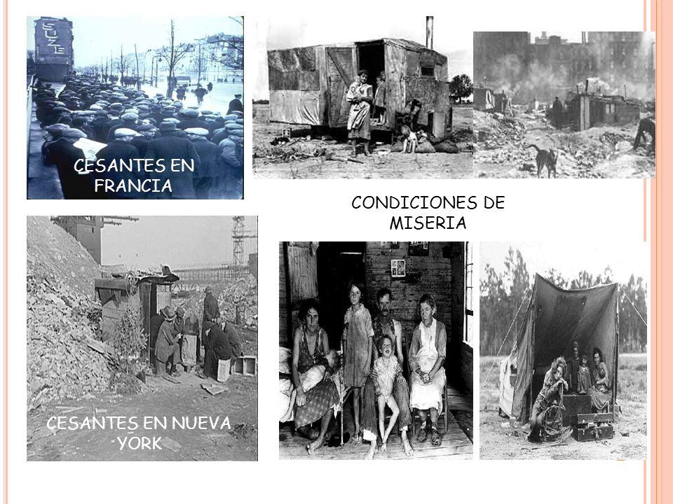 CONDICIONES DE MISERIA