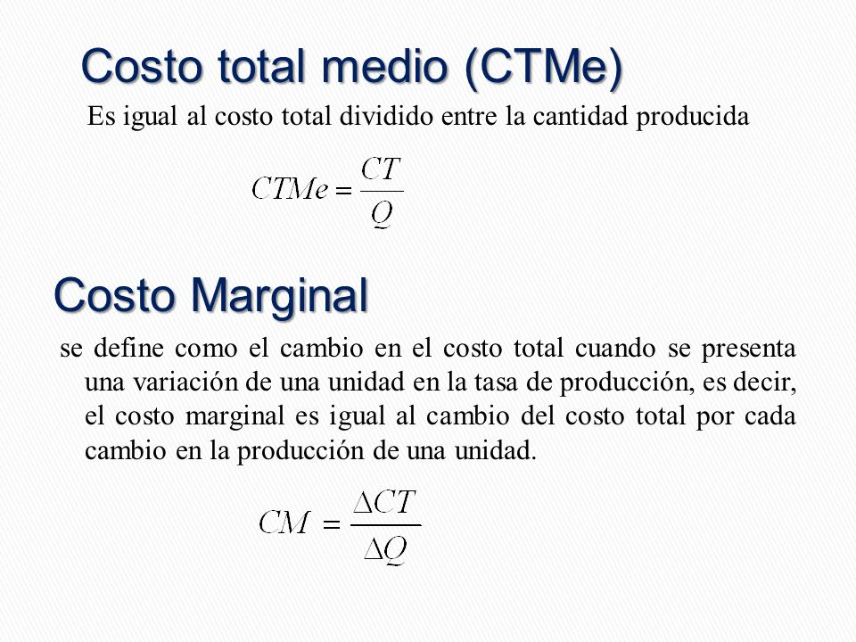 Costo total medio (CTMe)
