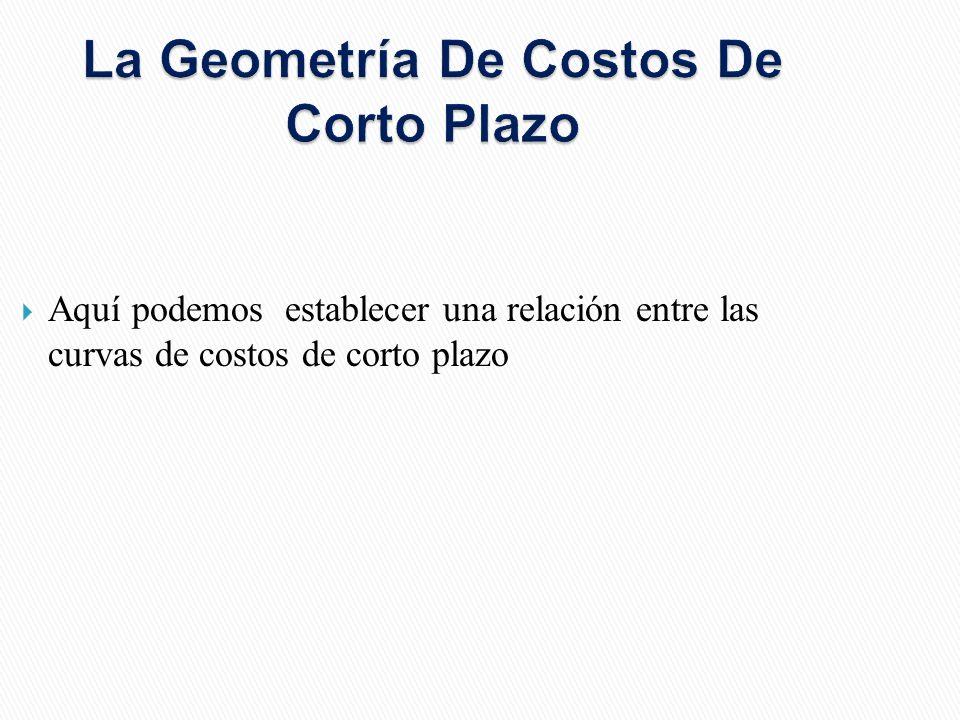 La Geometría De Costos De Corto Plazo