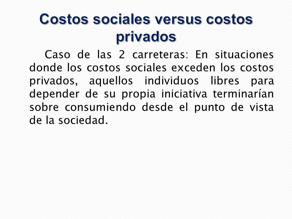 Costos sociales versus costos privados