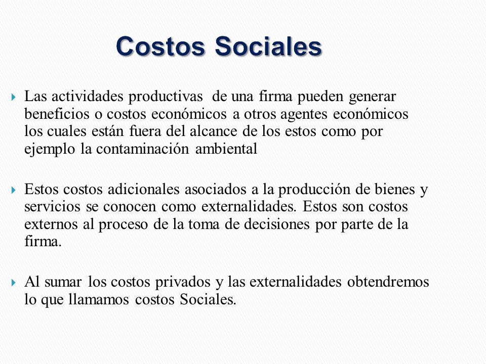 Costos Sociales