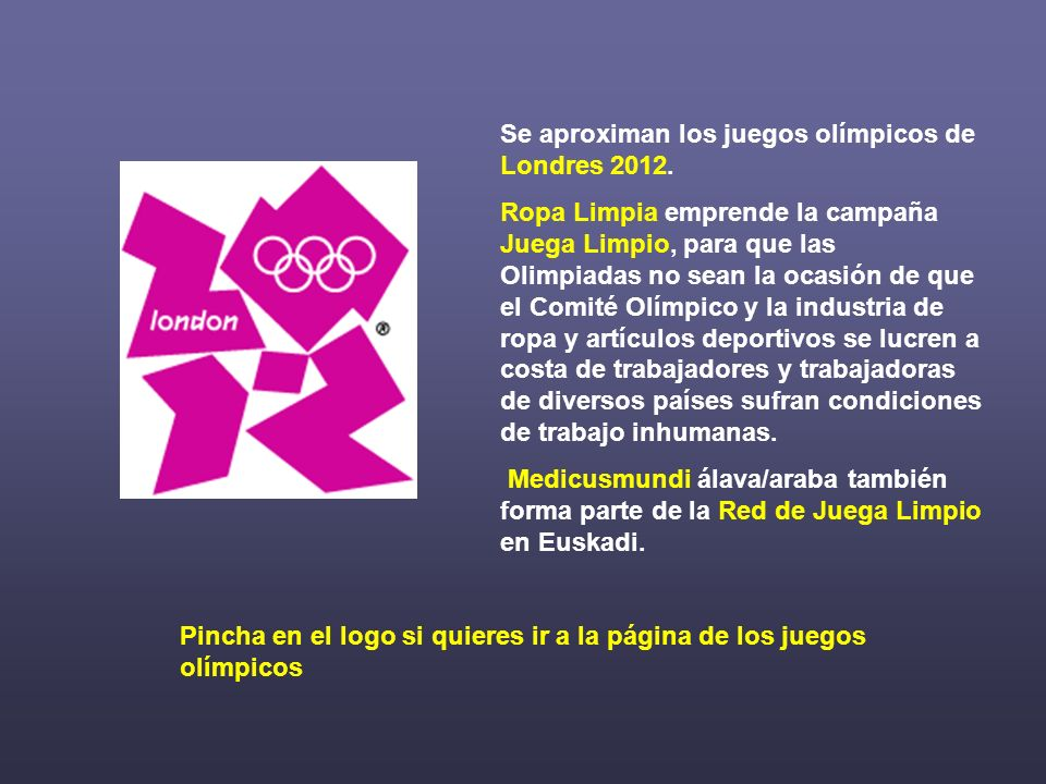 Se aproximan los juegos olímpicos de Londres 2012.