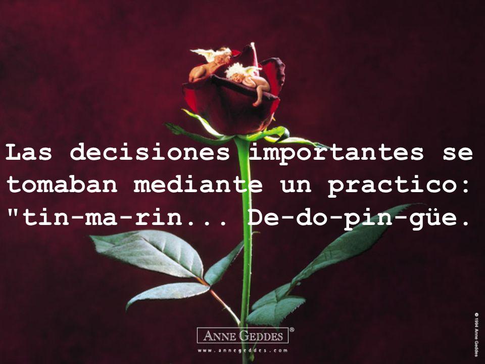 Las decisiones importantes se tomaban mediante un practico:
