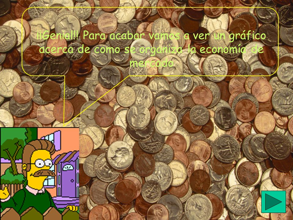 ¡¡Genial!! Para acabar vamos a ver un gráfico acerca de como se organiza la economía de mercado