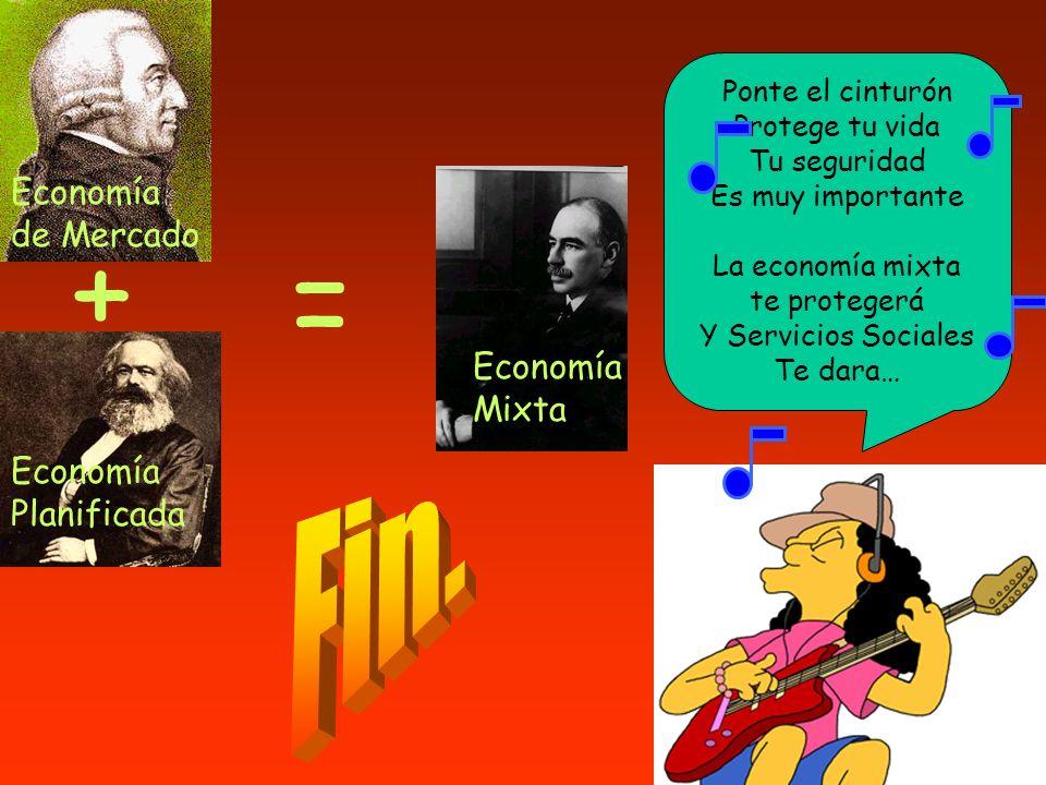 + = Fin. Economía de Mercado Economía Mixta Economía Planificada