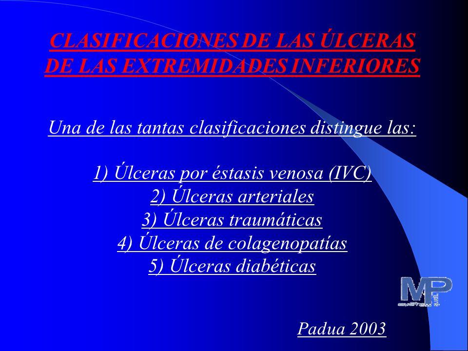 CLASIFICACIONES DE LAS ÚLCERAS DE LAS EXTREMIDADES INFERIORES