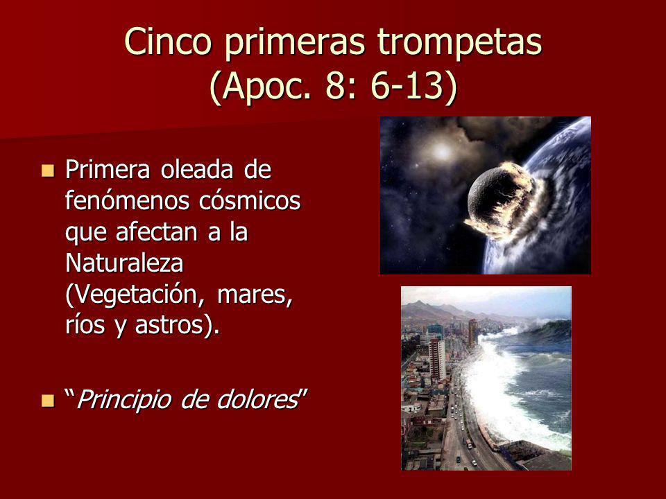 Cinco primeras trompetas (Apoc. 8: 6-13)