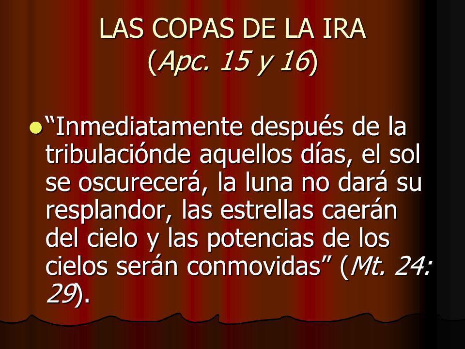 LAS COPAS DE LA IRA (Apc. 15 y 16)