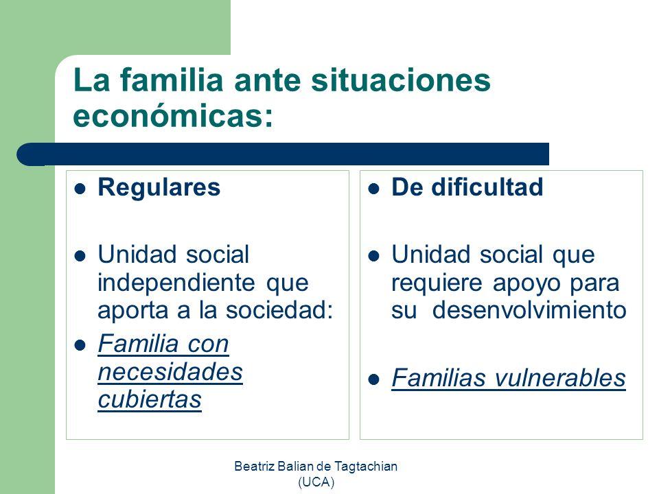La familia ante situaciones económicas: