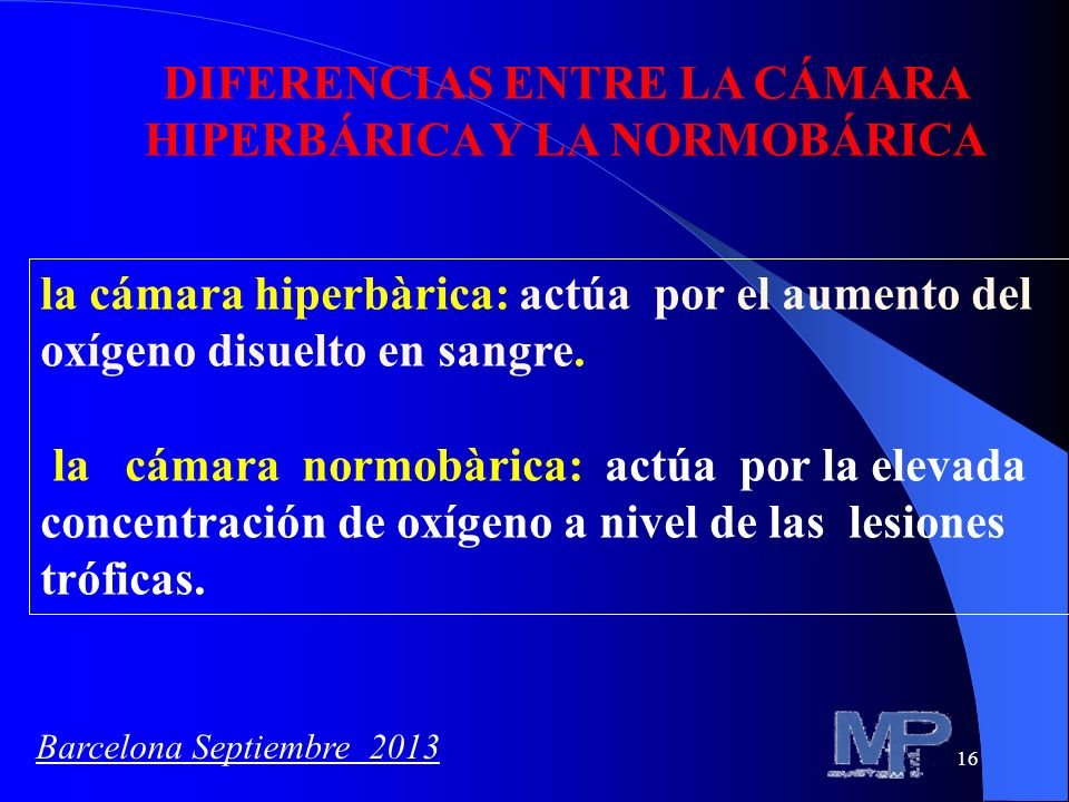DIFERENCIAS ENTRE LA CÁMARA HIPERBÁRICA Y LA NORMOBÁRICA