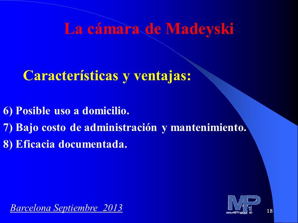 La cámara de Madeyski Características y ventajas: