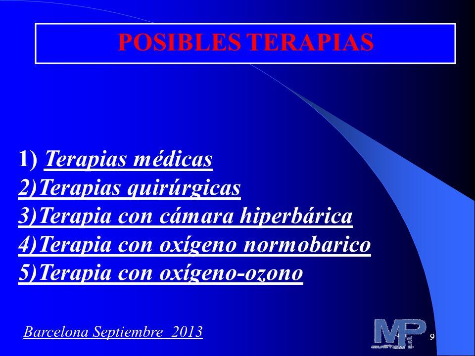 POSIBLES TERAPIAS 1) Terapias médicas 2)Terapias quirúrgicas