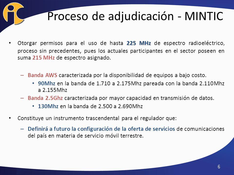 Proceso de adjudicación - MINTIC