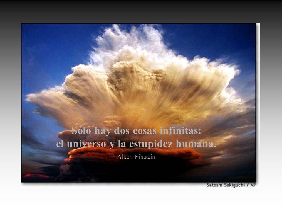 Sólo hay dos cosas infinitas: el universo y la estupidez humana