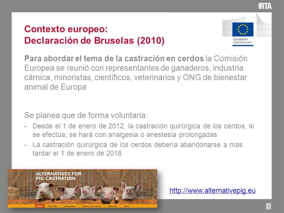 Evolución en la producción de cerdos en Europa