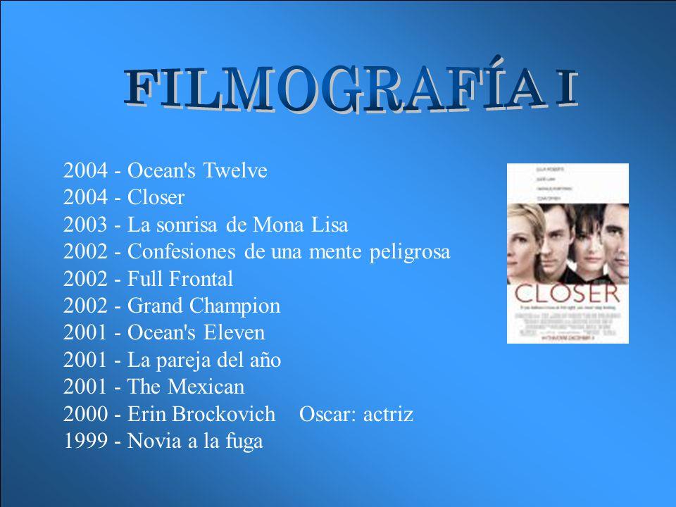 FILMOGRAFÍA I
