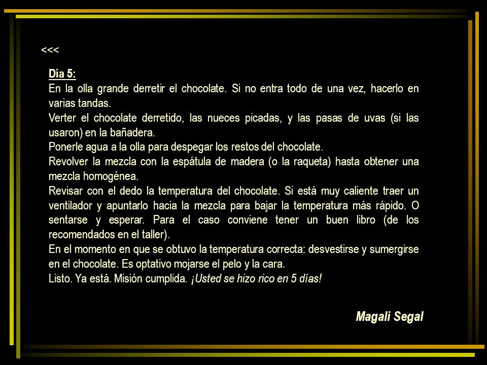 Magali Segal <<< Día 5: