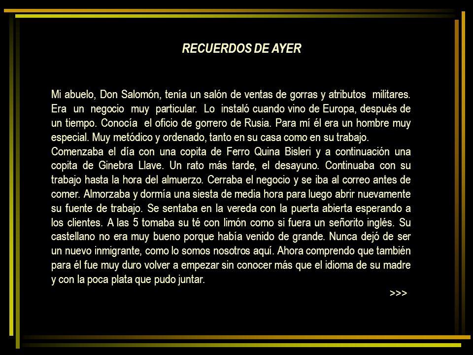 RECUERDOS DE AYER