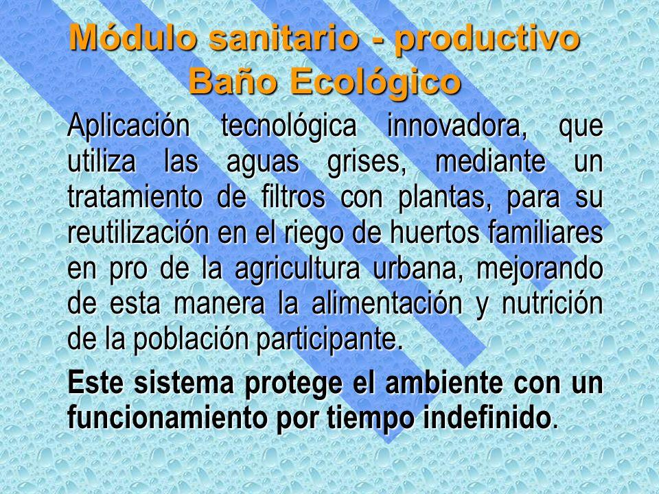 Módulo sanitario - productivo Baño Ecológico