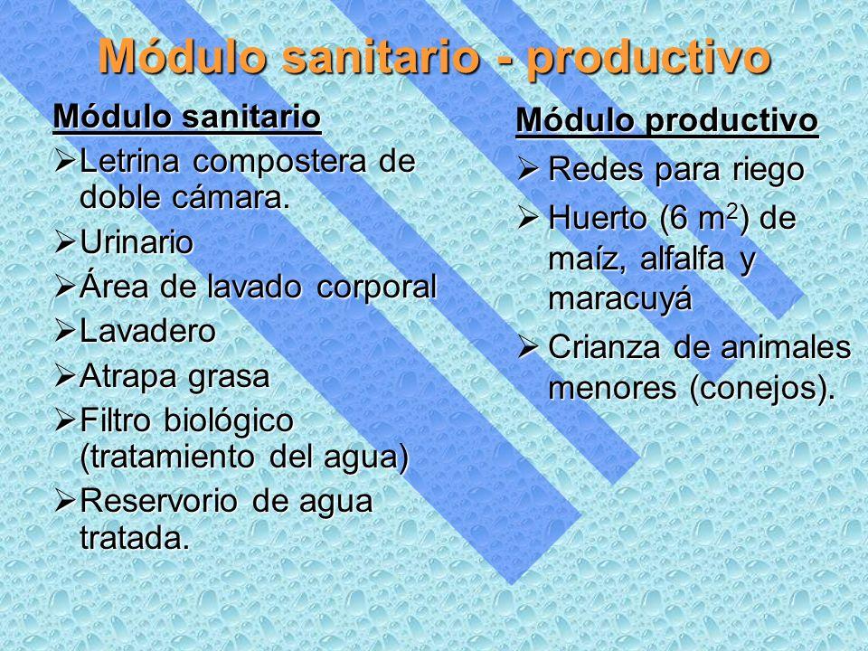 Módulo sanitario - productivo