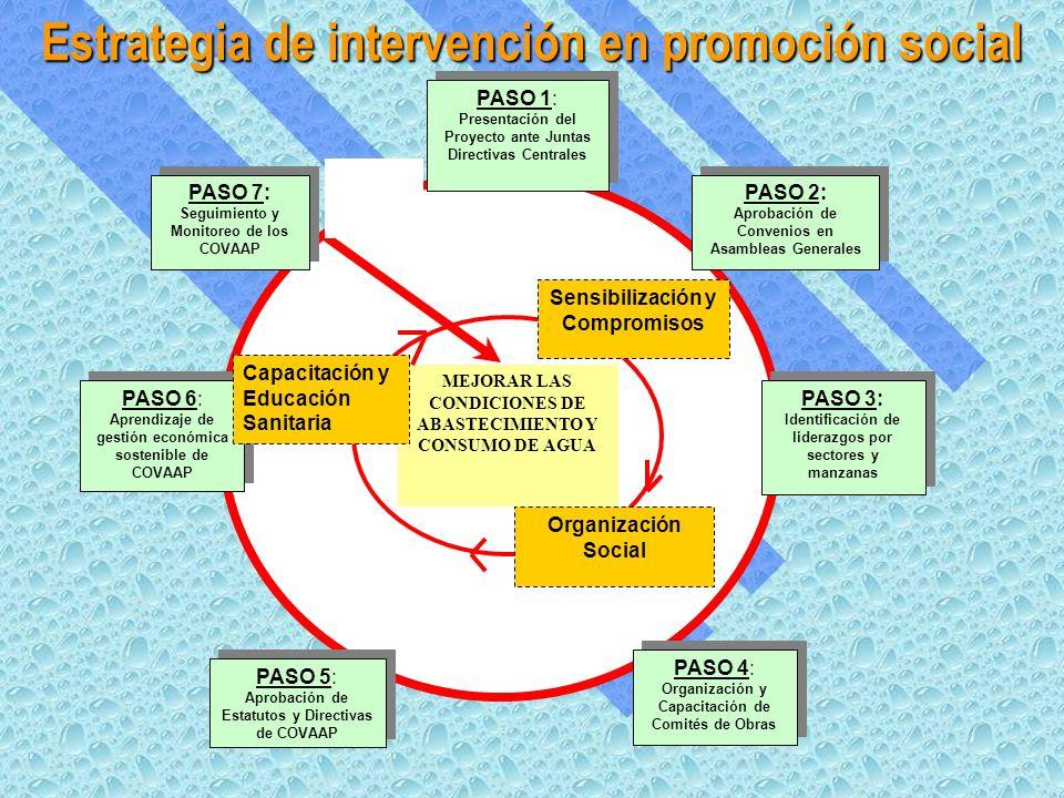 Estrategia de intervención en promoción social