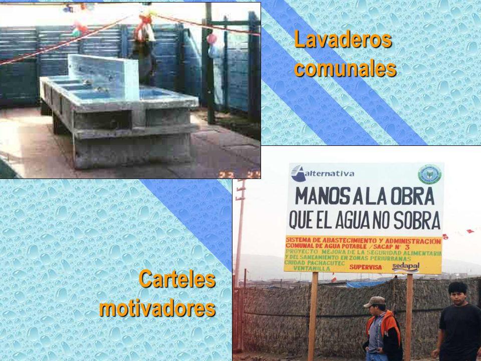 Lavaderos comunales Carteles motivadores