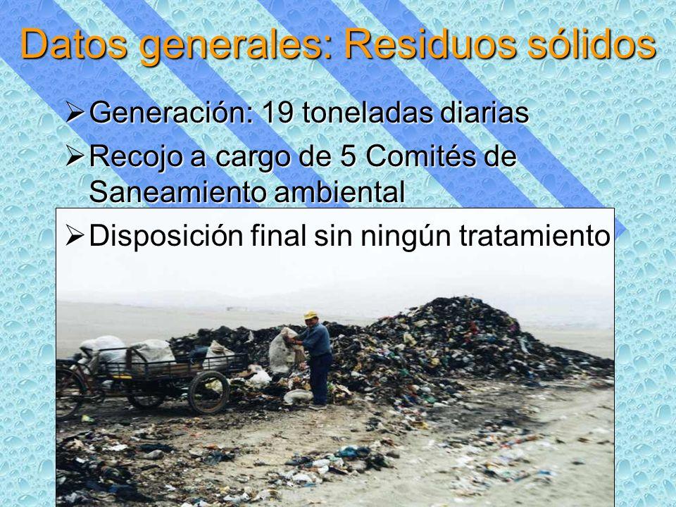 Datos generales: Residuos sólidos