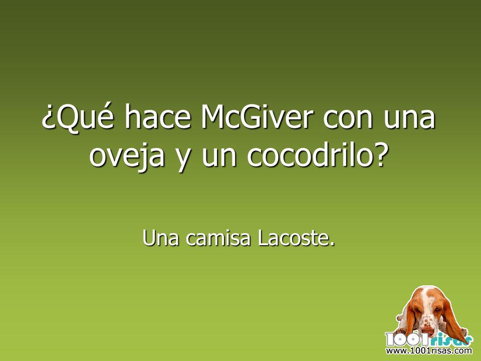 ¿Qué hace McGiver con una oveja y un cocodrilo Una camisa Lacoste.